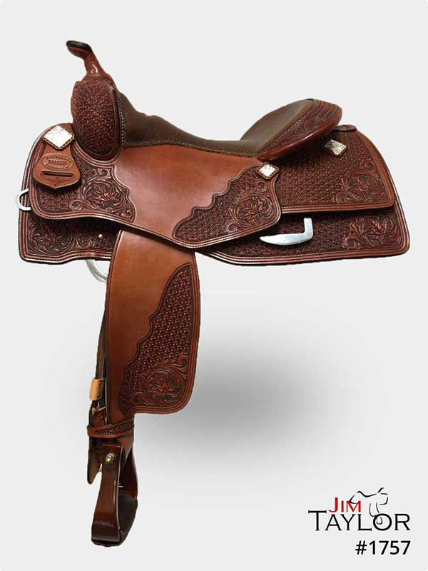 Brown Western Reining Saddle