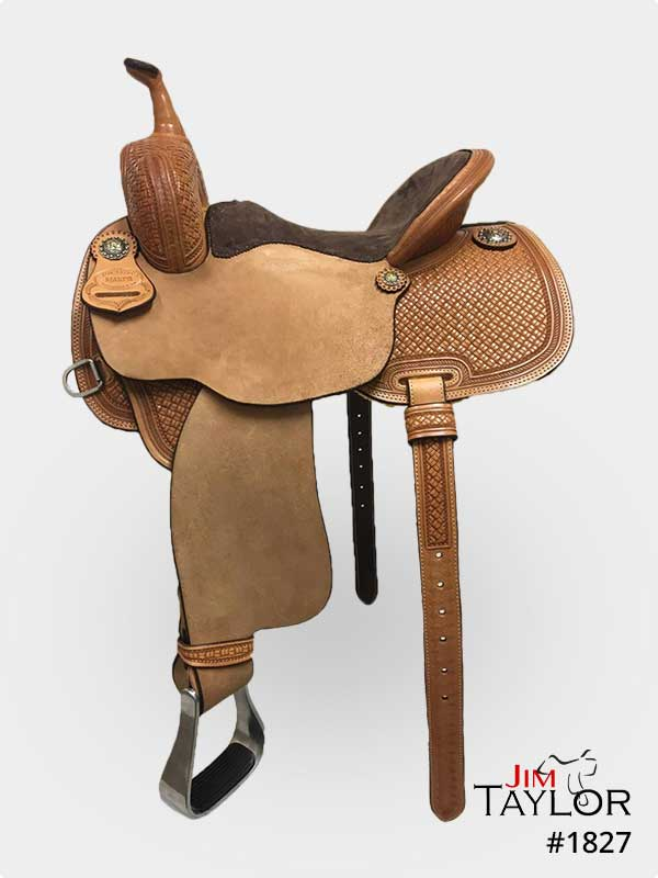 Light Brown barrel racing western saddle