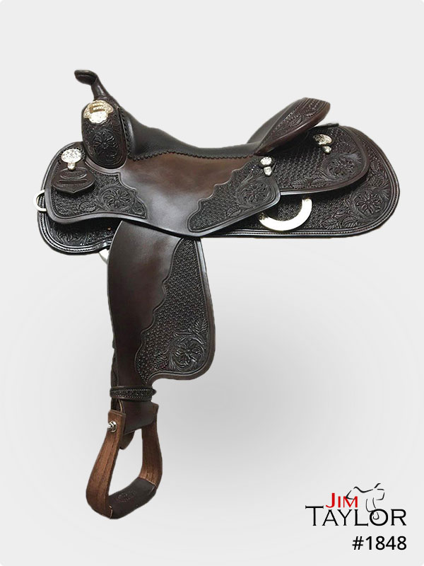 Silver show saddle in black