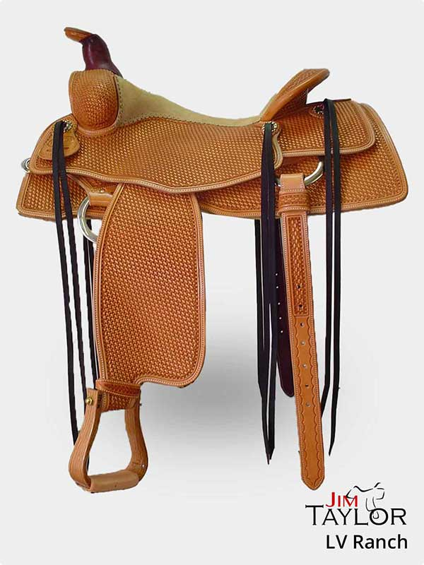 Light brown western saddle